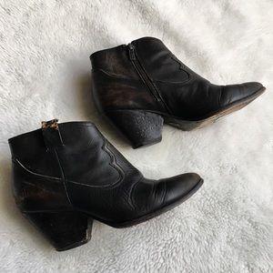 Frye Reina Booties size 8.5 Black Patina